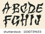 hand drawn liquid font and... | Shutterstock .eps vector #1030739653