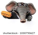 fun elephant   3d illustration | Shutterstock . vector #1030750627