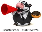 fun cow   3d illustration | Shutterstock . vector #1030750693