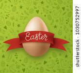easter egg wrapped with red...   Shutterstock .eps vector #1030752997