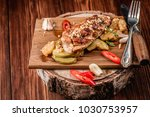 baked chicken breast with... | Shutterstock . vector #1030753957