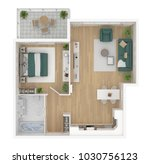 floor plan top view. apartment... | Shutterstock . vector #1030756123