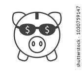 save money piggy vector  | Shutterstock .eps vector #1030759147