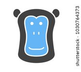 baboon face icon | Shutterstock .eps vector #1030764373