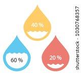 water drop percentage ...   Shutterstock .eps vector #1030768357