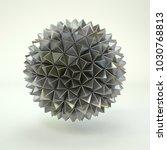 3d rendering lowpoly polygon... | Shutterstock . vector #1030768813