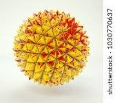3d rendering lowpoly polygon... | Shutterstock . vector #1030770637