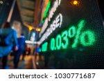 stock market display in the... | Shutterstock . vector #1030771687