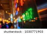 stock market display in the... | Shutterstock . vector #1030771903