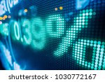 stock market display in the city | Shutterstock . vector #1030772167