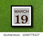 numbers on march 19.  concept... | Shutterstock . vector #1030775227