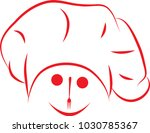 chef face logo food and drink  | Shutterstock .eps vector #1030785367