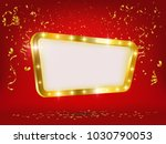 shining banner on red... | Shutterstock .eps vector #1030790053
