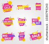 set of sale sticker | Shutterstock .eps vector #1030795243