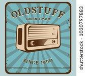 vintage old stuff radio | Shutterstock .eps vector #1030797883