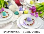 beautiful table setting with...   Shutterstock . vector #1030799887