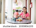 chinese people eating noodles... | Shutterstock . vector #1030806103