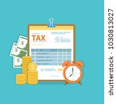 tax payment concept. government ... | Shutterstock . vector #1030813027