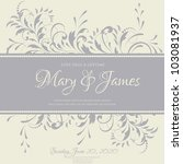 wedding card or invitation with ...   Shutterstock .eps vector #103081937