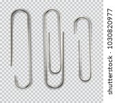 realistic paper clip set.... | Shutterstock .eps vector #1030820977
