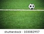 soccer ball on the field over... | Shutterstock . vector #103082957
