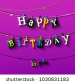 vector illustration of birthday ... | Shutterstock .eps vector #1030831183