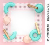 square banner mock up with... | Shutterstock . vector #1030831783