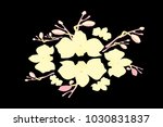 abstract orchid pattern. gentle ... | Shutterstock .eps vector #1030831837