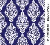 blue and white ornamental... | Shutterstock .eps vector #1030839013