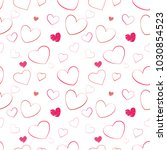 seamless pattern with hand... | Shutterstock .eps vector #1030854523