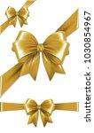 set of gold gift bows. ... | Shutterstock . vector #1030854967
