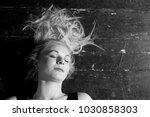 woman on the floor | Shutterstock . vector #1030858303