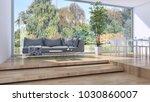 modern bright interiors 3d... | Shutterstock . vector #1030860007
