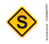 road signs vector | Shutterstock .eps vector #1030869997