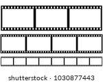 set of film frame  vector... | Shutterstock .eps vector #1030877443