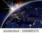 vision of sunrise over the...   Shutterstock . vector #1030885273