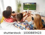 football  leisure and people... | Shutterstock . vector #1030885423