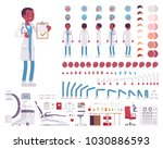 male doctor in clinic uniform... | Shutterstock .eps vector #1030886593