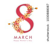 happy women's day celebration... | Shutterstock .eps vector #1030888087