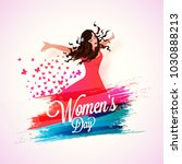 happy women's day celebration... | Shutterstock .eps vector #1030888213