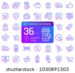 gradient outline icons of... | Shutterstock .eps vector #1030891303