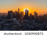 dawn aerial view of rising sun... | Shutterstock . vector #1030900873