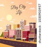 city sunset light background... | Shutterstock .eps vector #1030903957