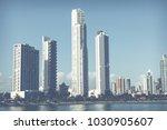 panoramic view of city skyline  ... | Shutterstock . vector #1030905607