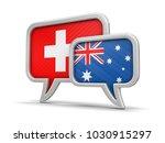 3d illustration. speech bubbles ... | Shutterstock . vector #1030915297