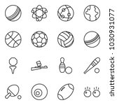 flat vector icon set   ball... | Shutterstock .eps vector #1030931077