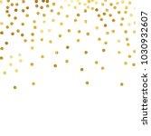gold glitter background polka...   Shutterstock .eps vector #1030932607