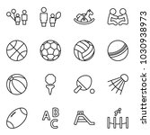 flat vector icon set   father... | Shutterstock .eps vector #1030938973