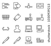 flat vector icon set   comments ... | Shutterstock .eps vector #1030939213