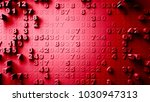 abstract numbers random motion... | Shutterstock . vector #1030947313